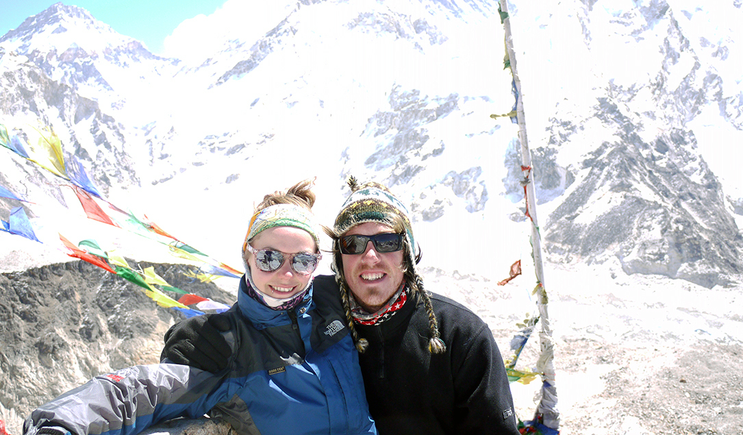 Brian and Noelle at Kalla Pattar in Nepal (5,550m)