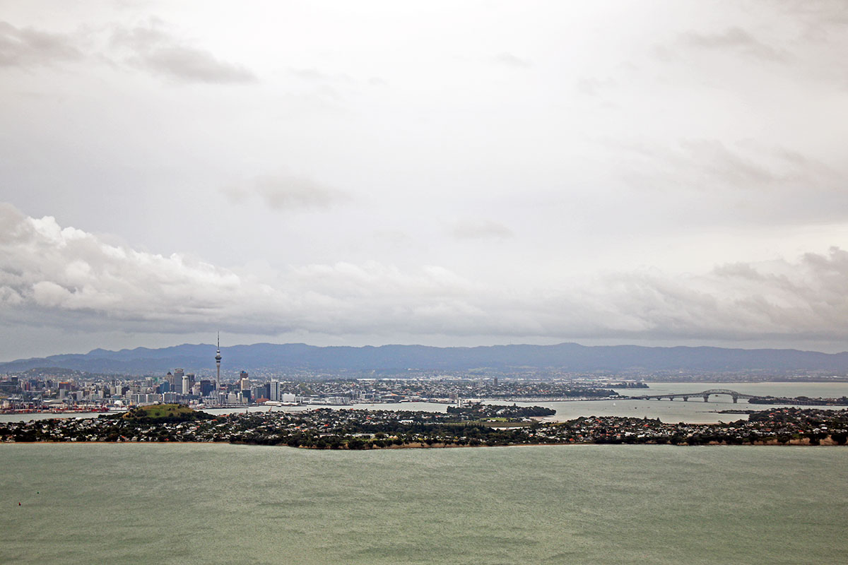 Hiking to Summit of Rangitoto